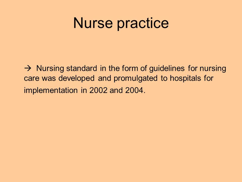 Nurse practice