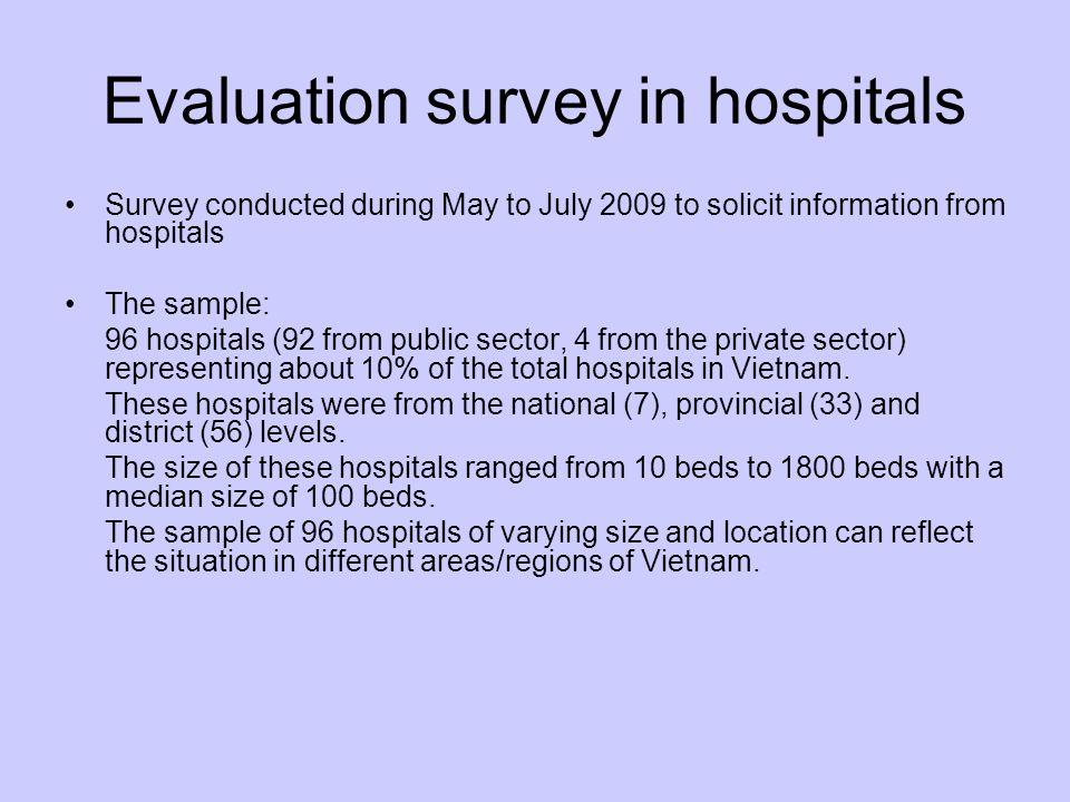 Evaluation survey in hospitals