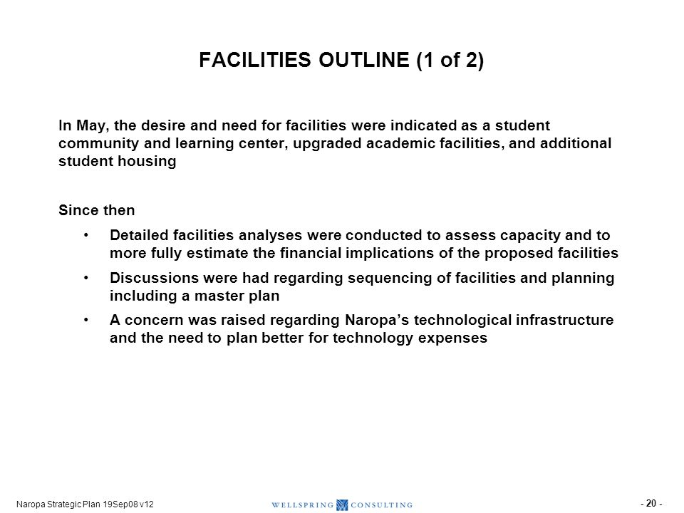 FACILITIES OUTLINE (2 of 2)