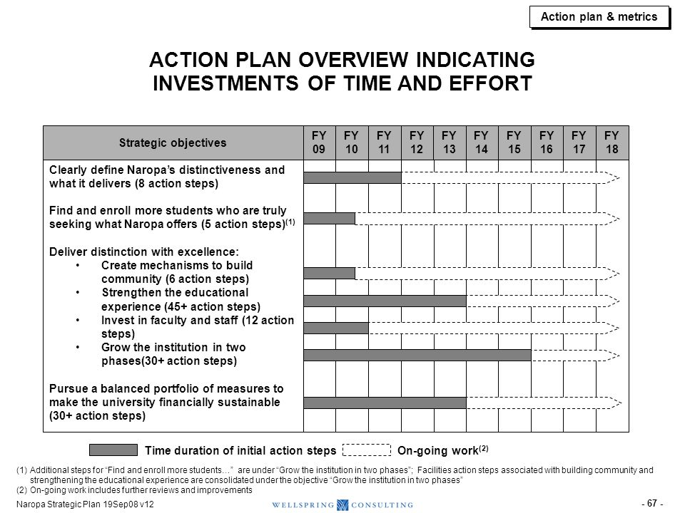 SAMPLE ACTION PLAN PAGE