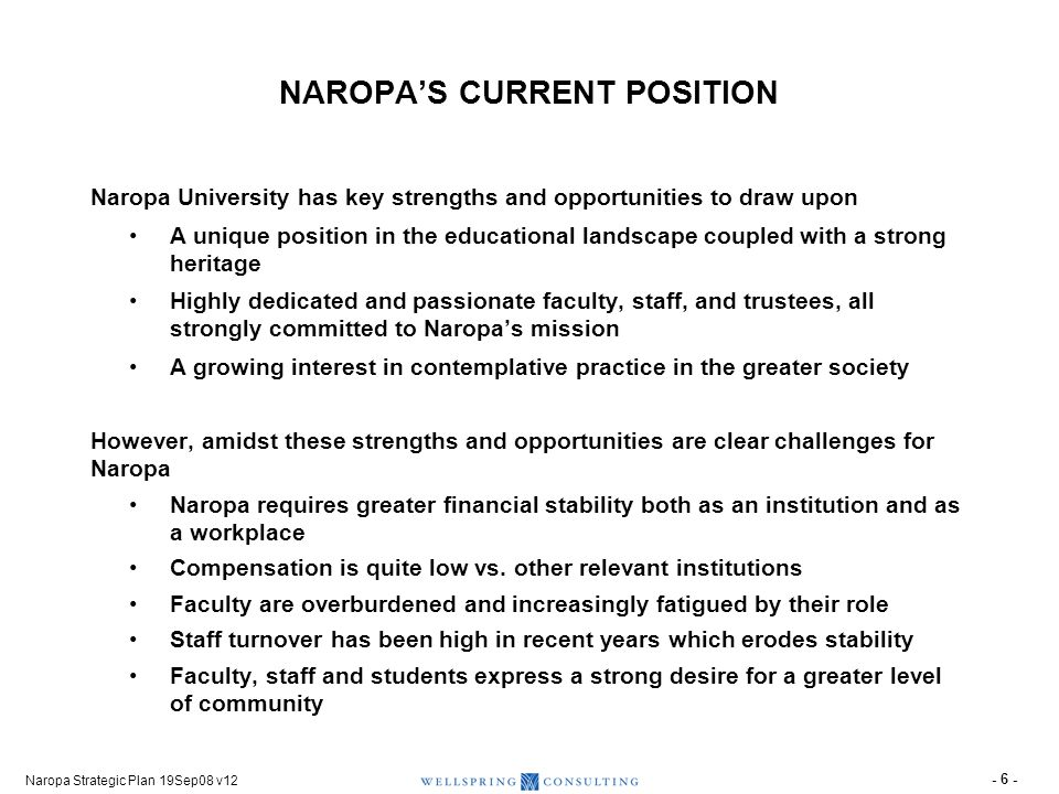 IN SERVICE OF ITS MISSION(1), NAROPA SEEKS TO FULFILL SEVERAL ADDITIONAL OBJECTIVES
