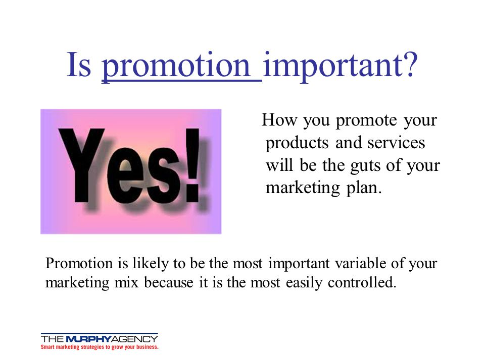 Is promotion important