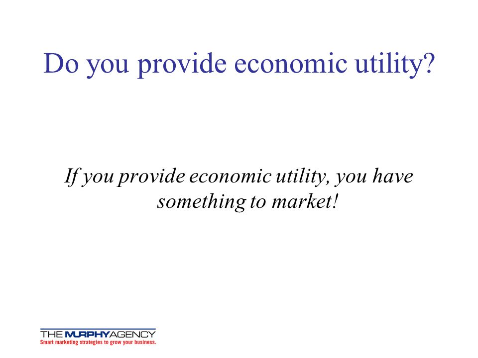 Do you provide economic utility