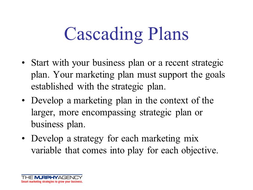 Cascading Plans