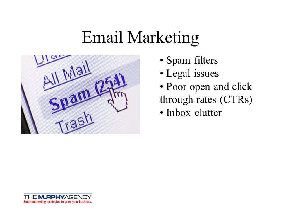 Email Marketing • Spam filters • Legal issues