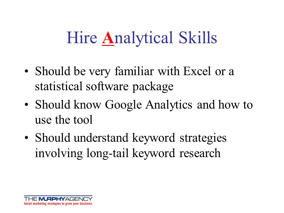 Hire Analytical Skills