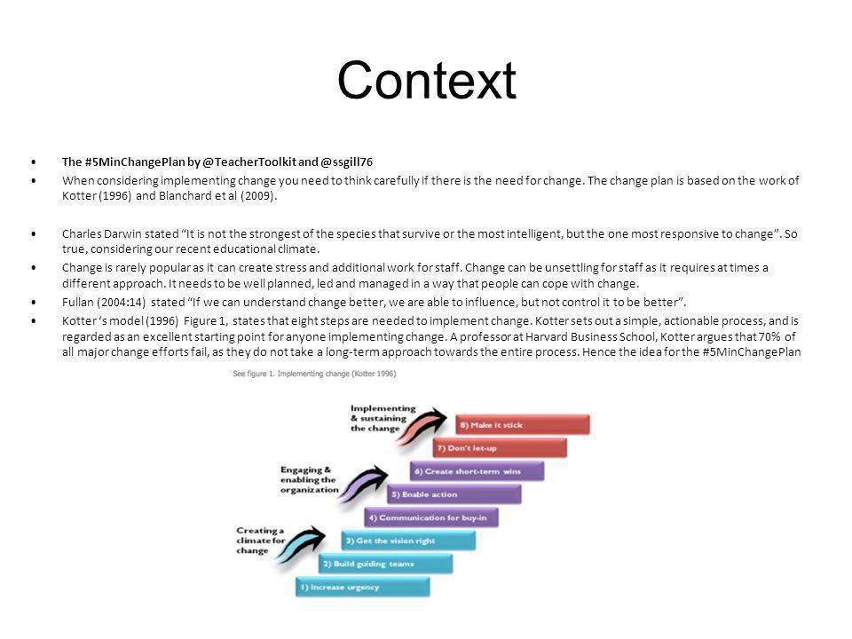 Context The #5MinChangePlan by @TeacherToolkit and @ssgill76.