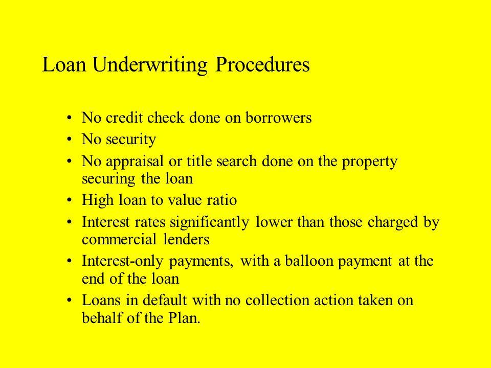 Loan Underwriting Procedures