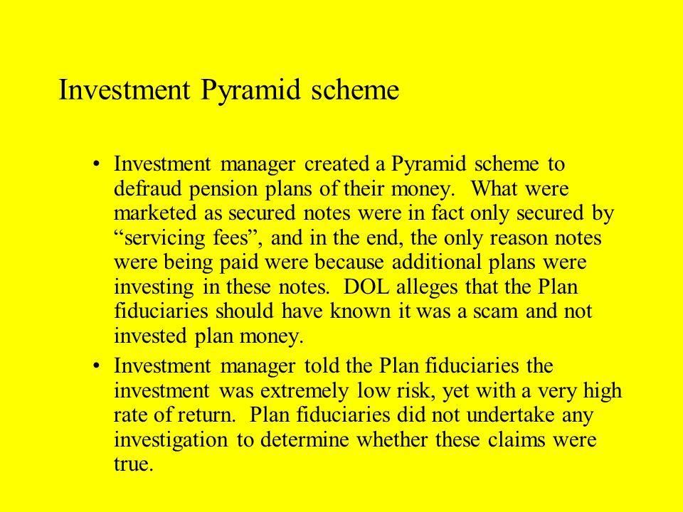Investment Pyramid scheme