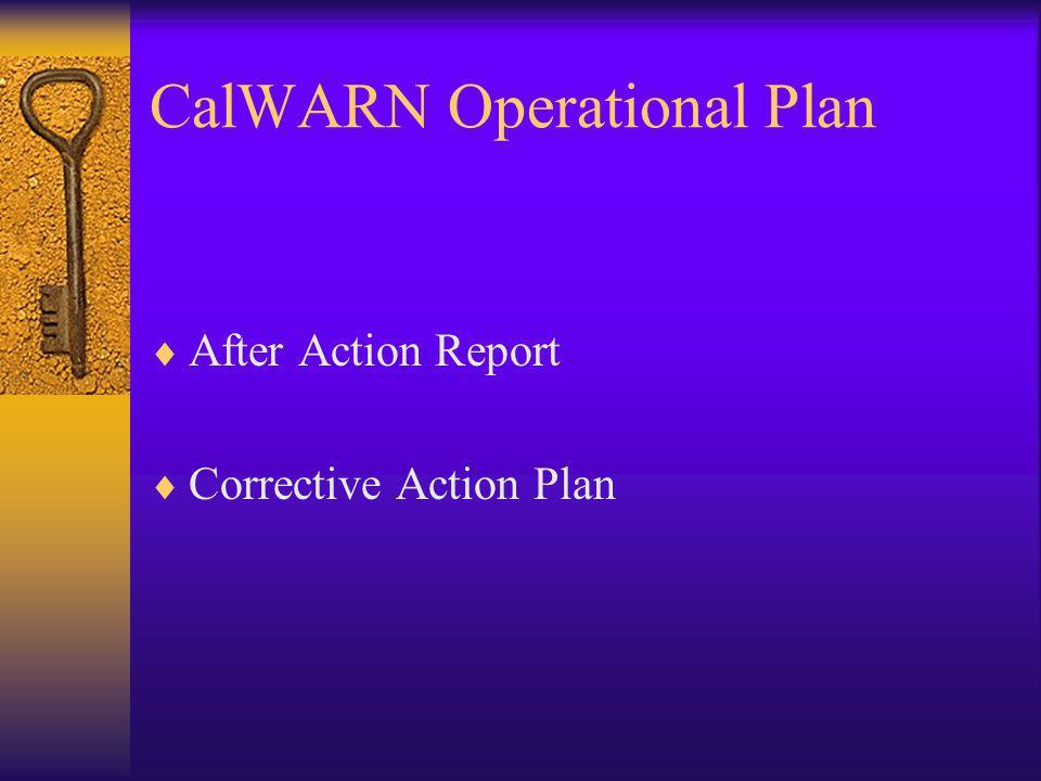 CalWARN Operational Plan
