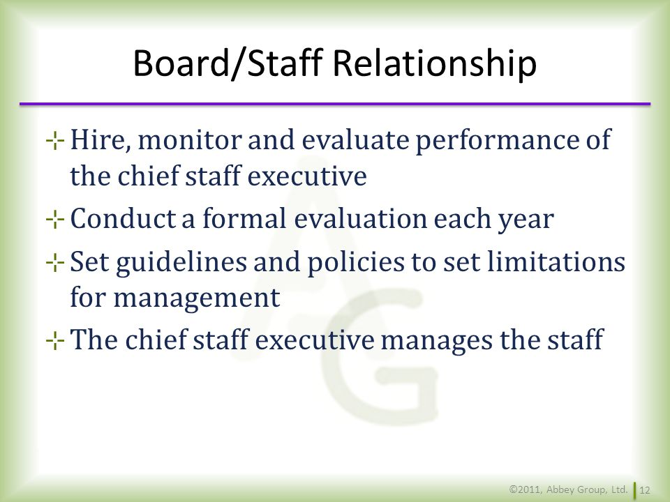 staff and board relationship