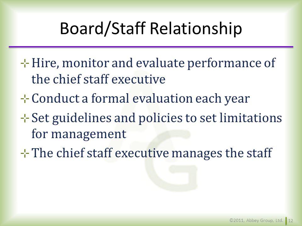 Board/Staff Relationship