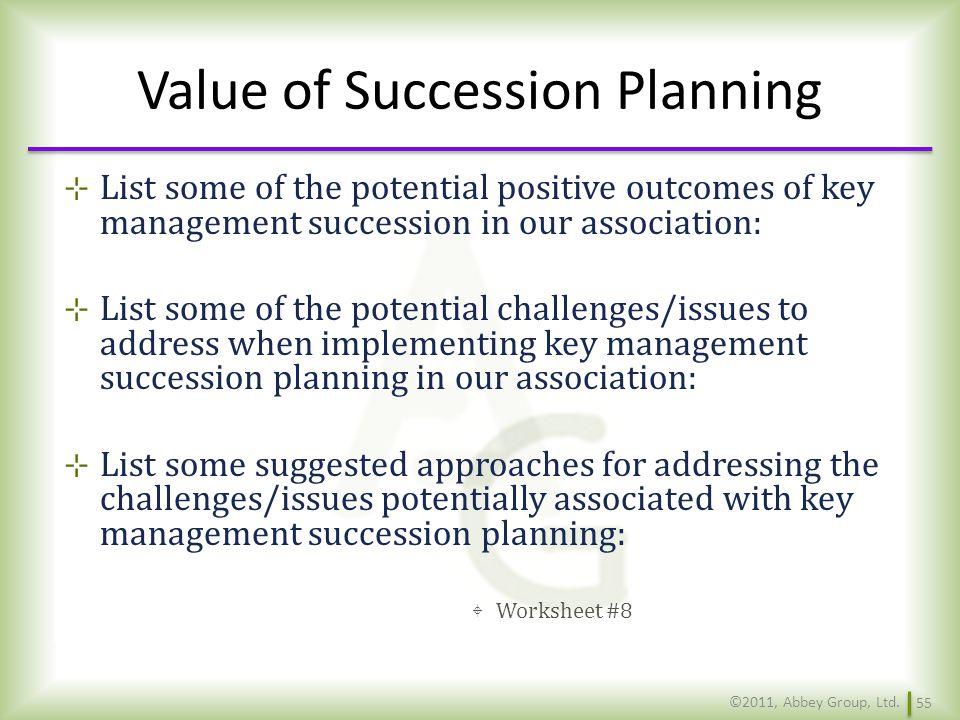 Value of Succession Planning
