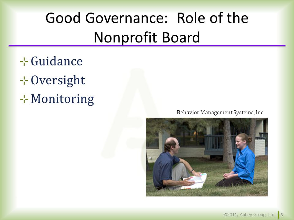 Good Governance: Role of the Nonprofit Board