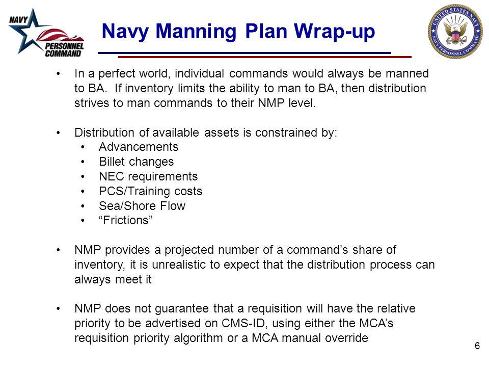 Navy Manning Plan Wrap-up