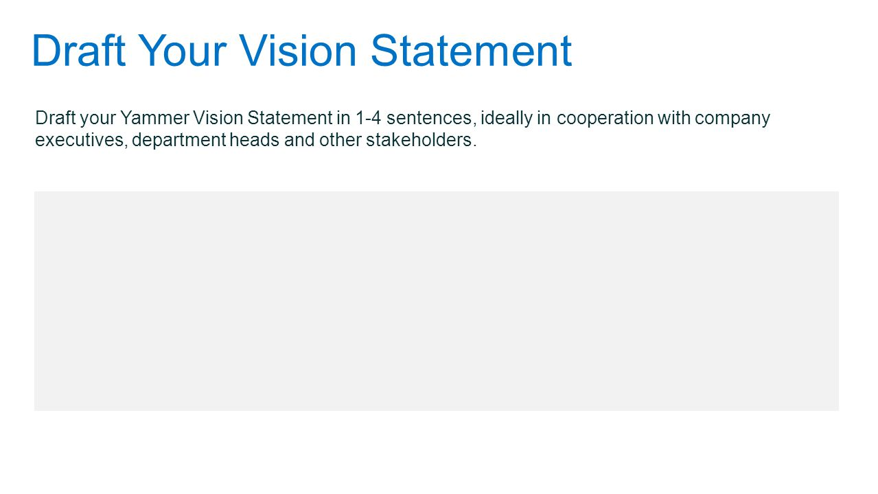 Draft Your Vision Statement