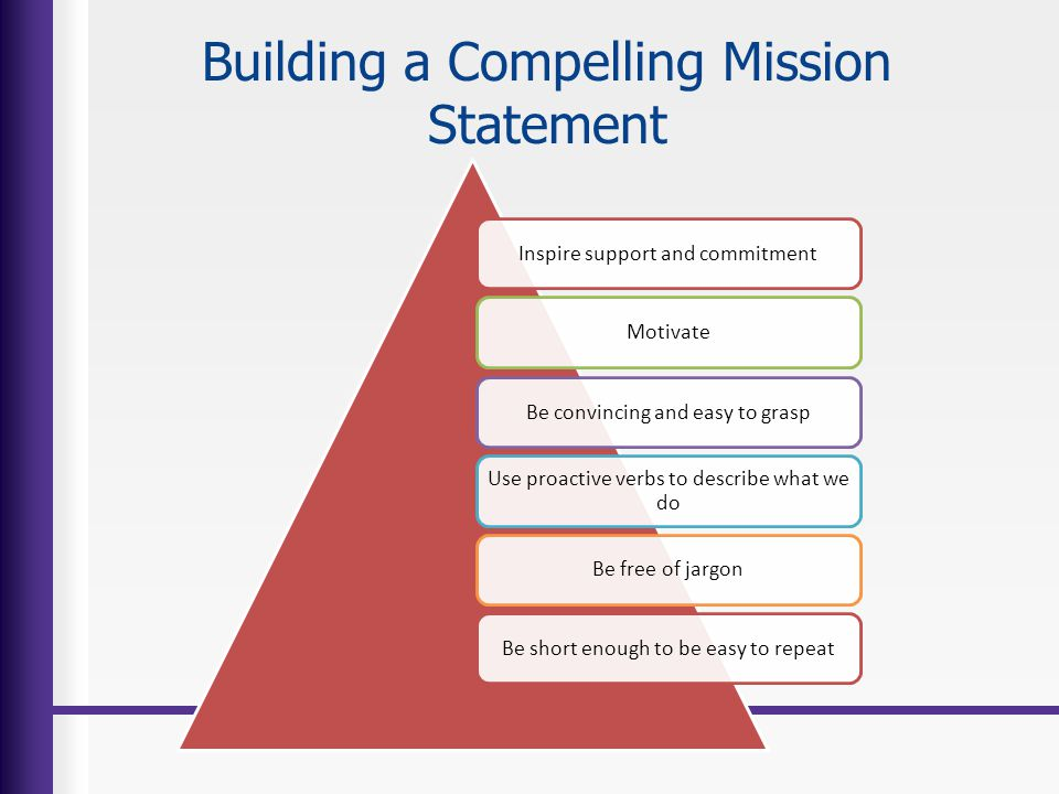 Building a Compelling Mission Statement