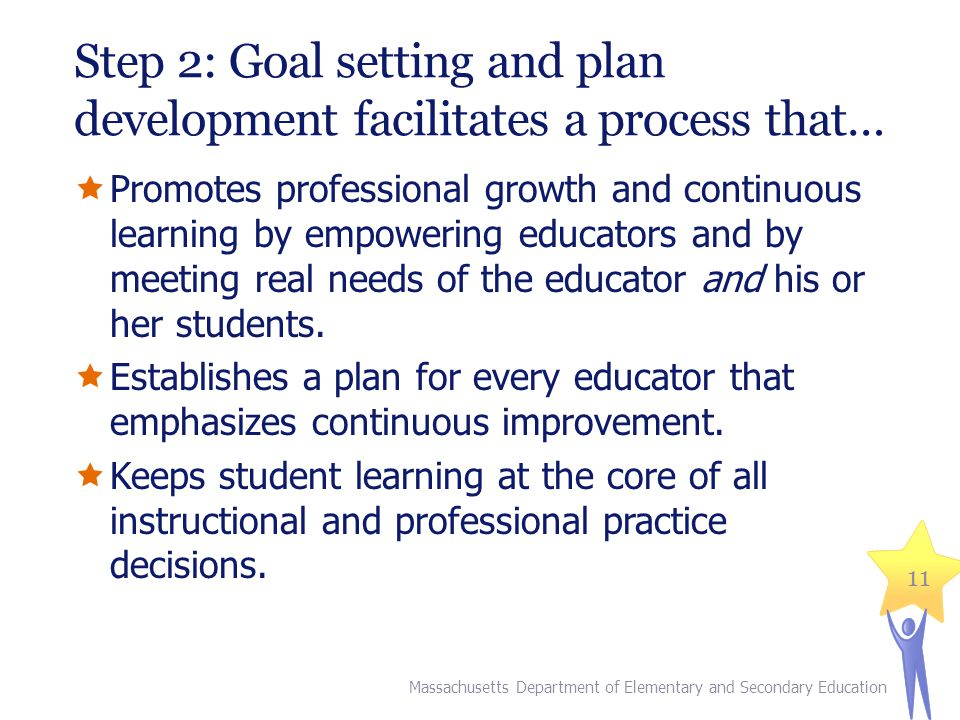 Step 2: Goal setting and plan development facilitates a process that…