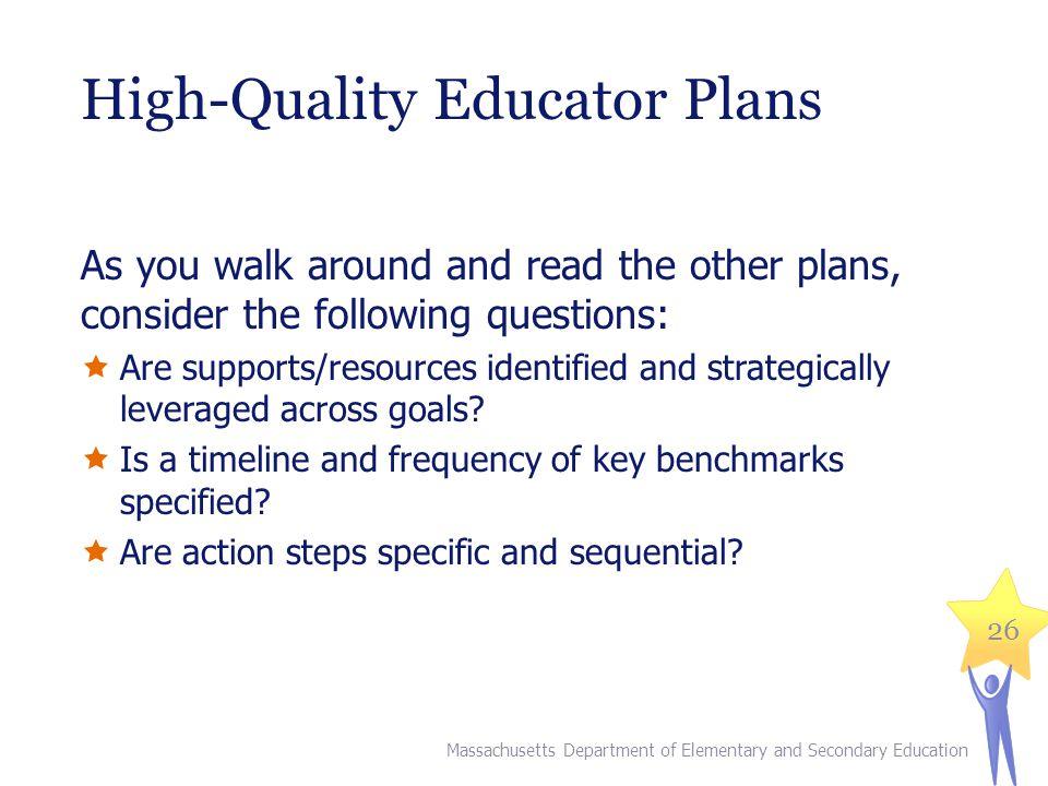 High-Quality Educator Plans
