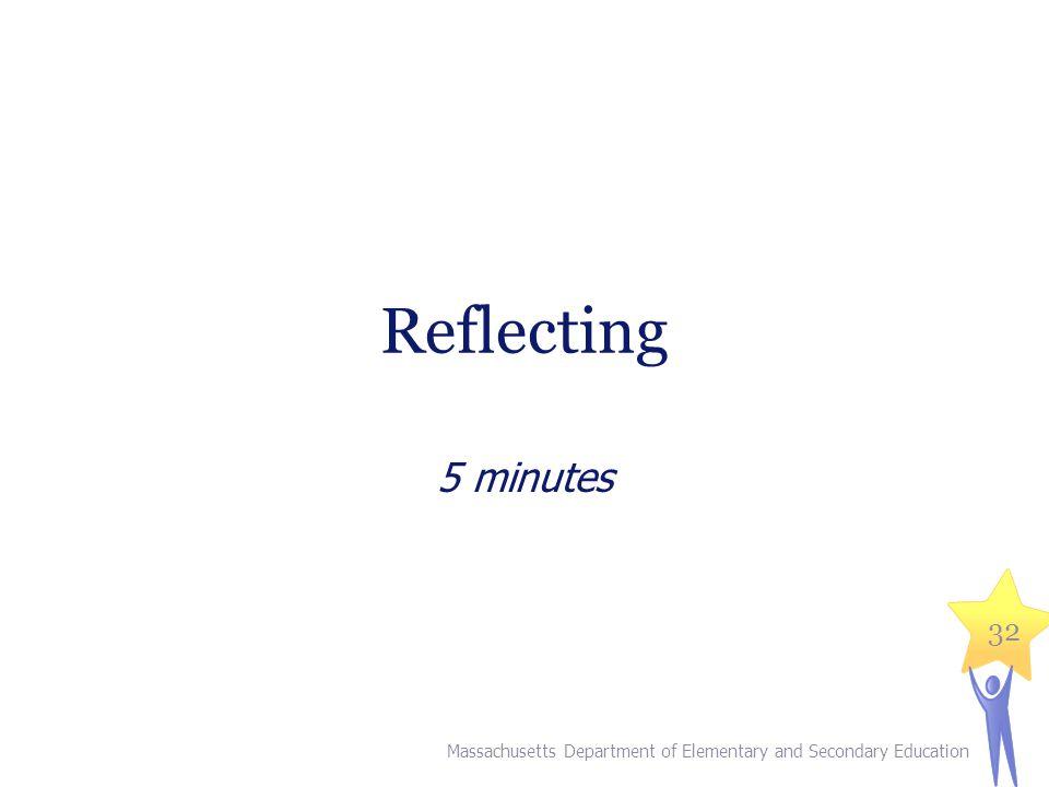 V. Reflecting (5 minutes)