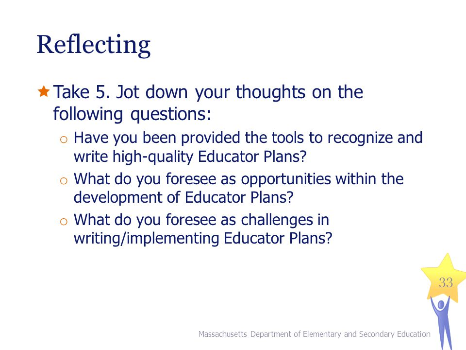 Reflecting Take 5. Jot down your thoughts on the following questions: