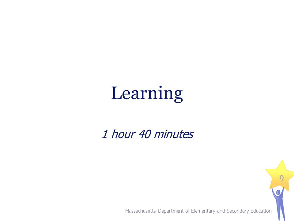 III. Learning (1 hour, 40 minutes)