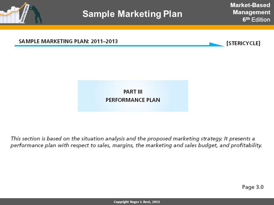 Sample Marketing Plan Market-Based Management 6th Edition