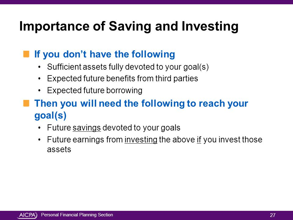 Importance of Saving and Investing