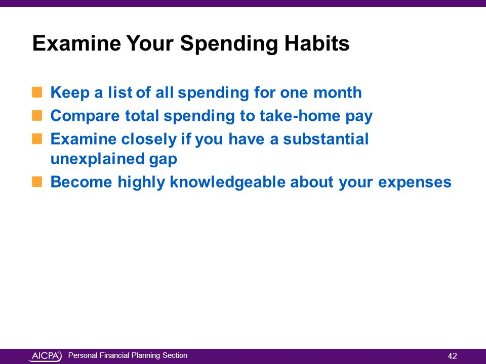 Examine Your Spending Habits