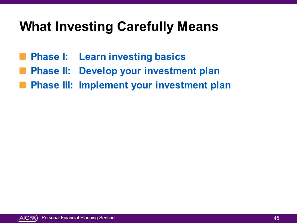 What Investing Carefully Means