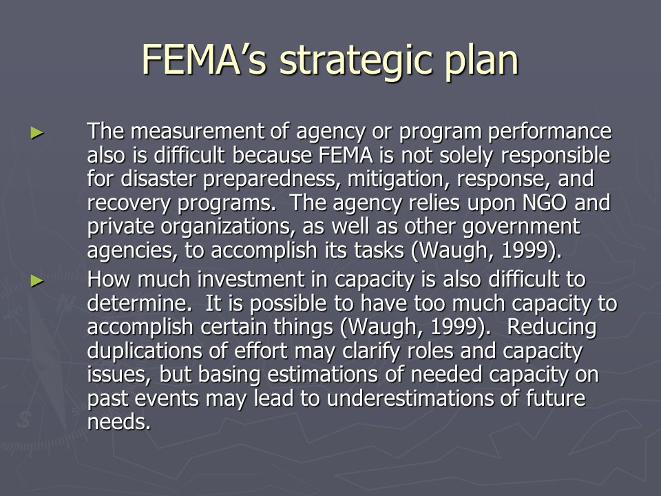 FEMA's strategic plan
