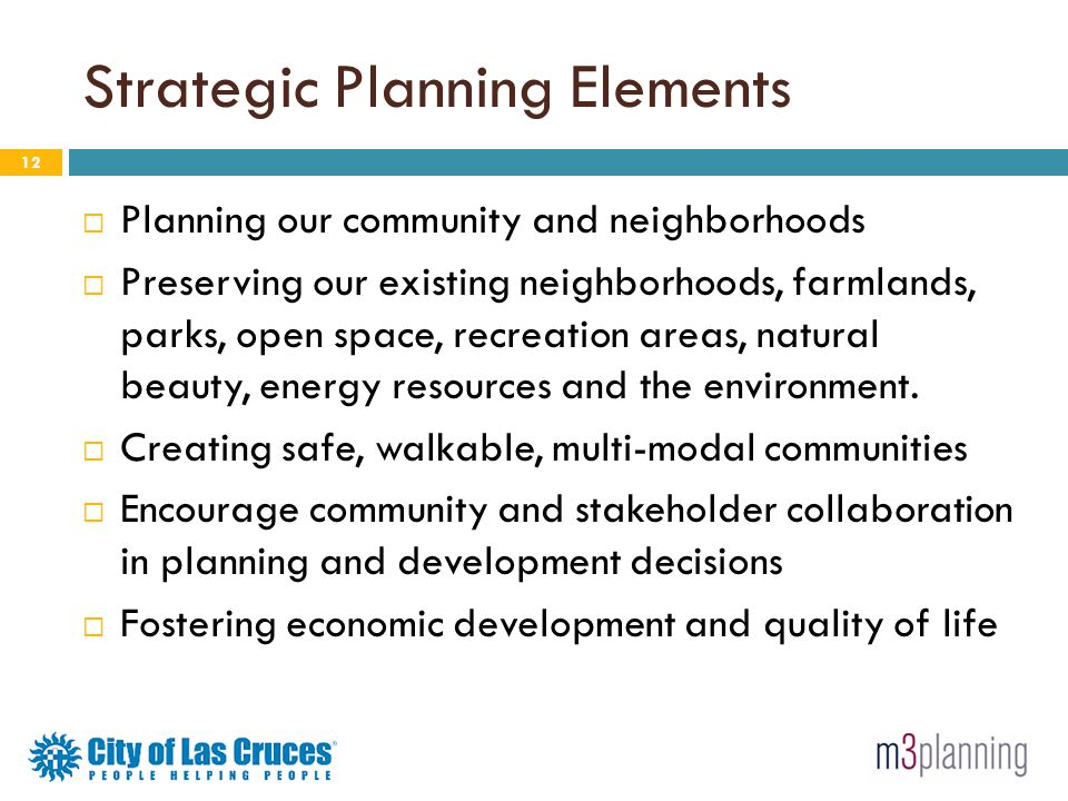 Strategic Planning Elements