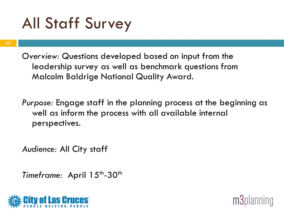 All Staff Survey