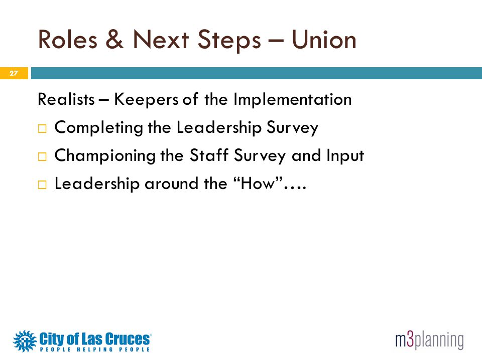 Roles & Next Steps – Union