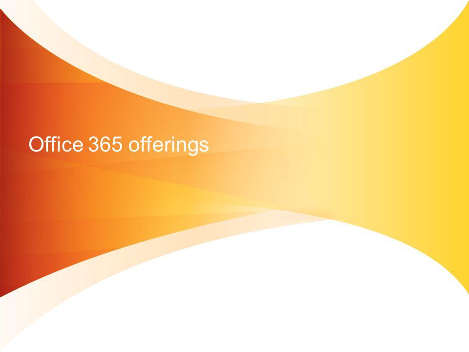 Office 365 offerings