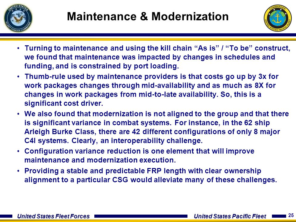 Maintenance & Modernization