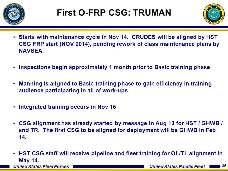 First O-FRP CSG: TRUMAN