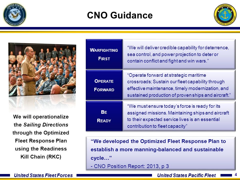 CNO Guidance Warfighting. First.
