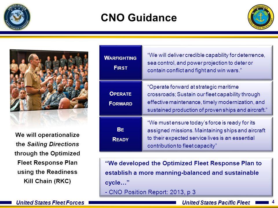 CNO Guidance Warfighting. First.