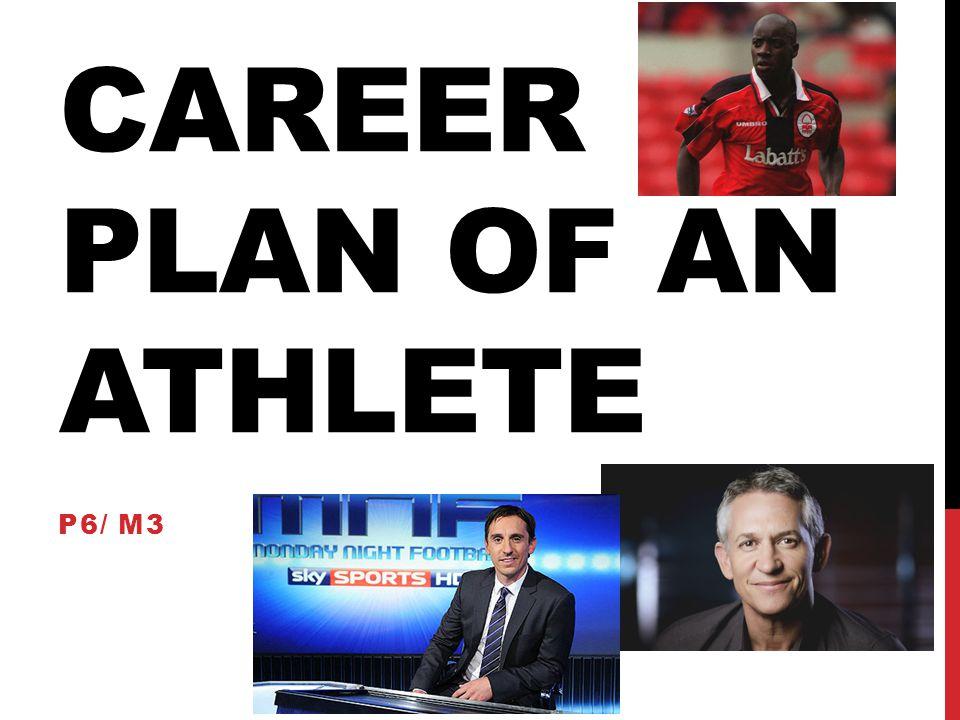 Career plan of an athlete