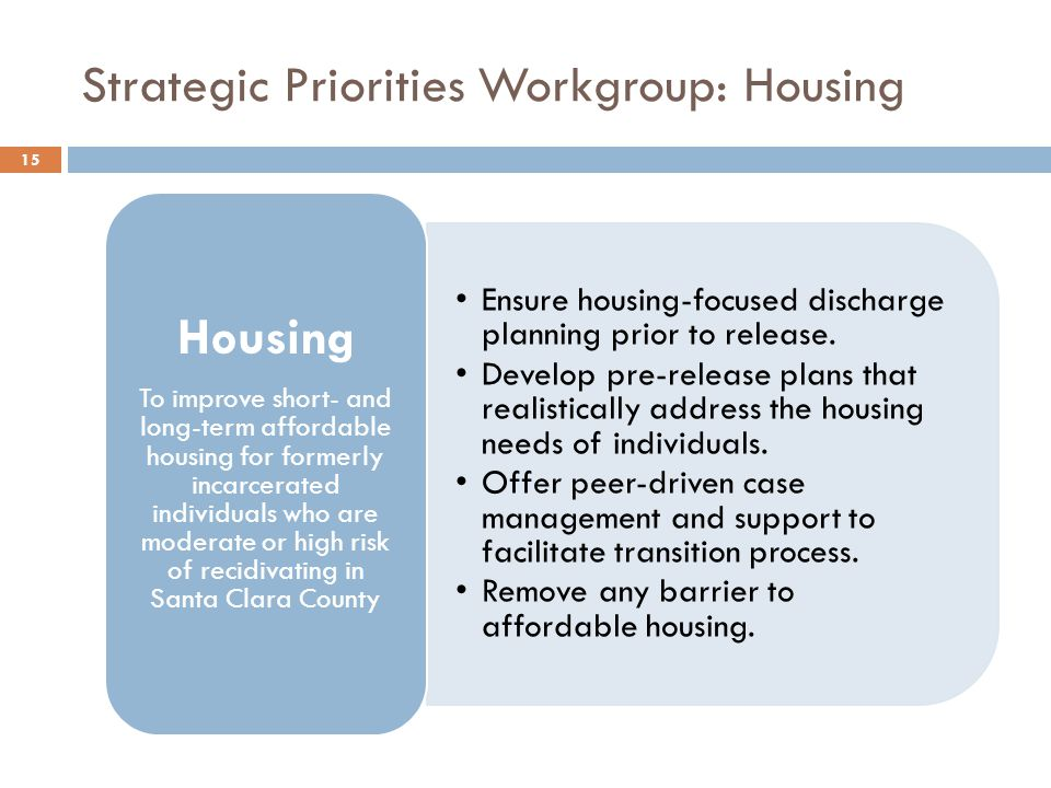 Strategic Priorities Workgroup: Housing