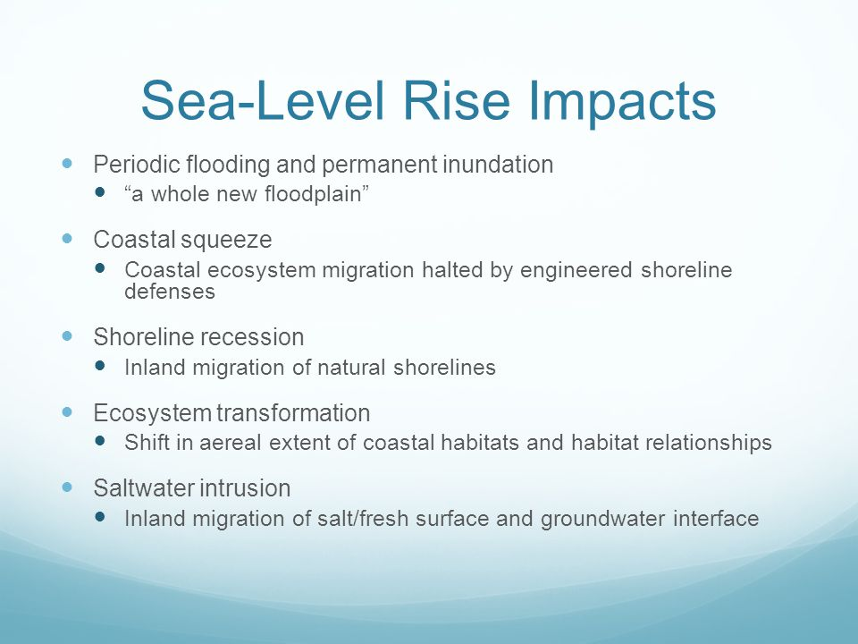 Sea-Level Rise Impacts