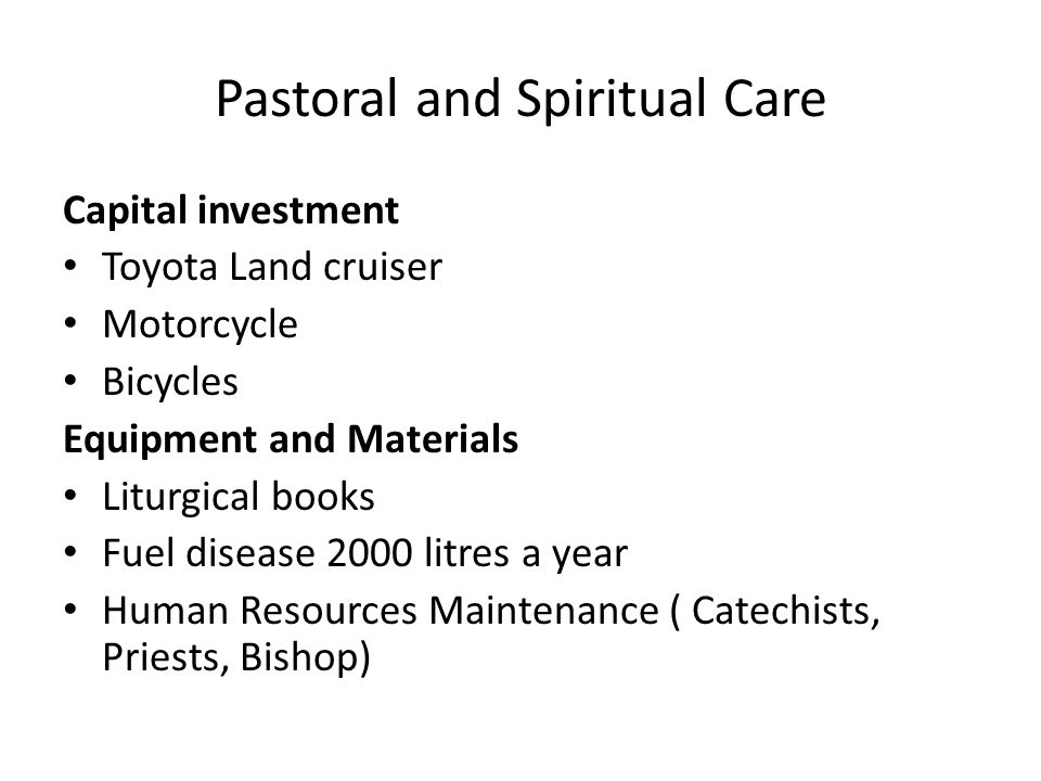 Pastoral and Spiritual Care