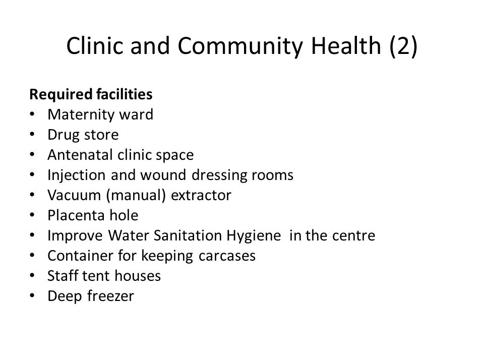 Clinic and Community Health (2)