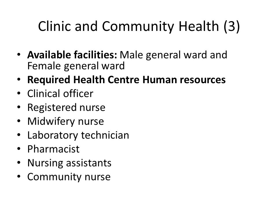 Clinic and Community Health (3)