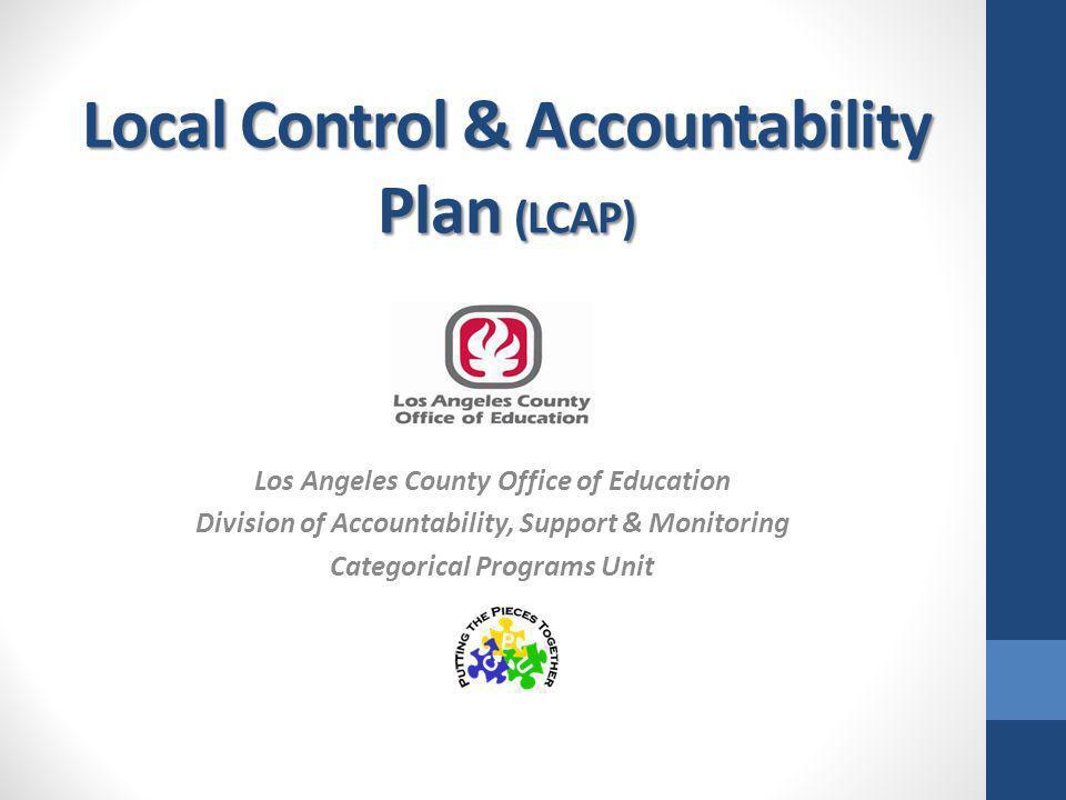 Local Control & Accountability Plan (LCAP)