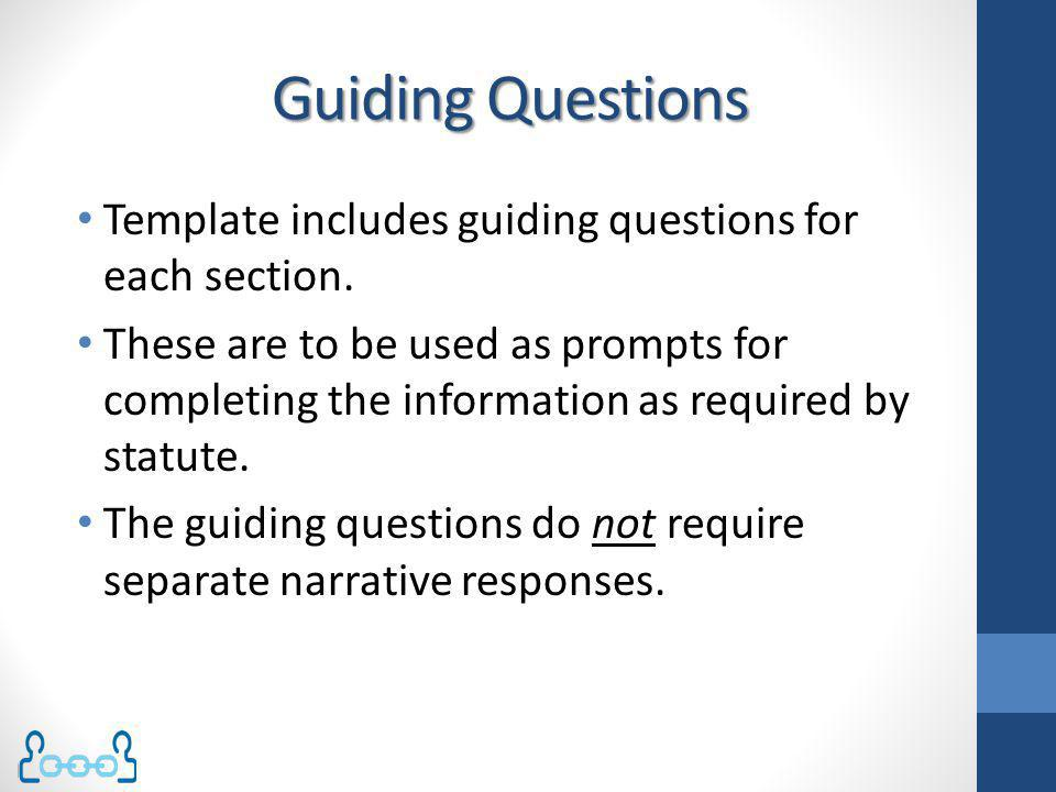 Guiding Questions Template includes guiding questions for each section.