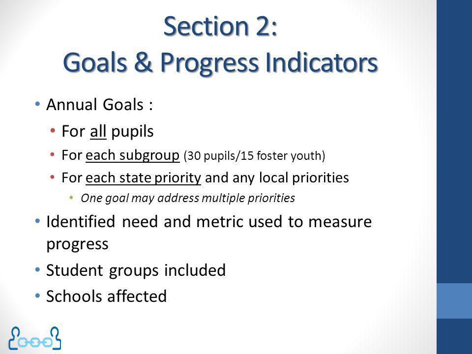 Section 2: Goals & Progress Indicators