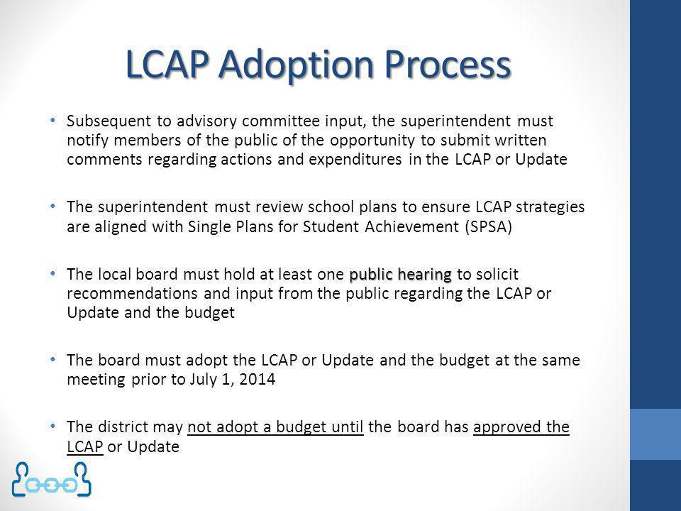 LCAP Adoption Process