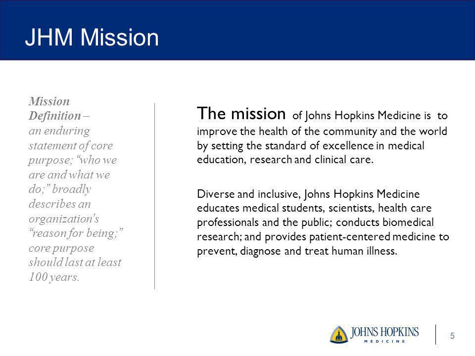 JHM Mission Mission.